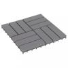 10 darab antikolt szürke tömör akácfa padlólap 30 x 30 cm