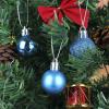 112 részes karácsonyfadísz, türkiz