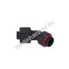 13/10mm compression fitting 45° forgatható G1 / 4 - recés - matt fekete