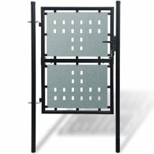 1 ajtós kapu 100 x 250 cm fekete kerti dekoráció