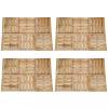 24 db barna fa padlólap 50 x 50 cm