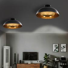 2 darab fekete-arany félgömb alakú mennyezeti lámpa E27 világítás