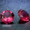 2 db csillogó cirkóniakő - rózsaszín