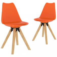 2 db narancssárga étkezőszék bútor