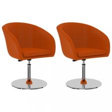 2 db narancssárga műbőr étkezőszék bútor