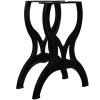 2 db öntöttvas étkezőasztal láb X-alakú vázzal