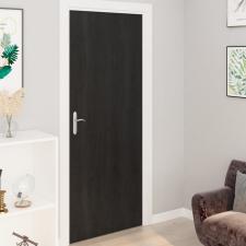 2 db sötét faszínű öntapadó PVC ajtófólia 210 x 90 cm redőny