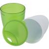 2in1 pohár, műanyag, világoszöld