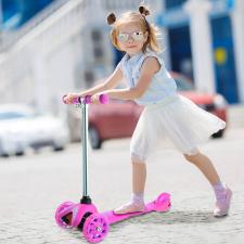 3 kerekű gyerek roller, rózsaszín roller