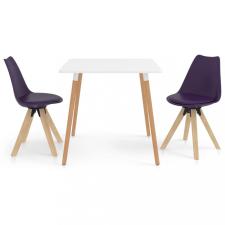 3 részes lila étkezőszett bútor