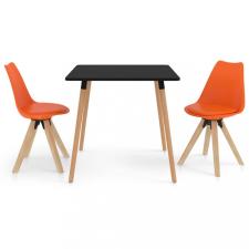 3 részes narancssárga étkezőszett bútor
