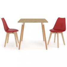 3 részes piros étkezőszett bútor