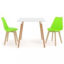 3 részes zöld étkezőszett bútor