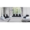 3-ülés, 2-ülés + fotel, textilbőr fehér+Boss 12, MONO