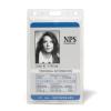 3L Azonosítókártya tartó, műanyag, függőleges, 61x104 mm,