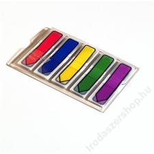 3M POSTIT Jelölocímke, műanyag, 5x20 lap, 12x43 mm, 3M POSTIT, vegyes jegyzettömb
