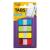 3M POSTIT Jelölocímke, műanyag, megerosített, 4x10 lap, 16x38 mm, vegyes színek