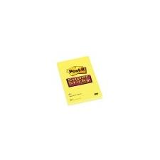 3M POSTIT Öntapadó jegyzettömb, 102x152 mm, 75 lap, vonalas, 3M POSTIT Super Sticky, sárga jegyzettömb