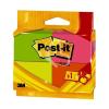 "3M POSTIT Öntapadó jegyzettömb, 38x51 mm, 100 lap, 3M POSTIT, ""Neon"""