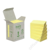 3M POSTIT Öntapadó jegyzettömb, 38x51 mm, 100 lap, környezetbarát, 3M POSTIT, sárga (LP6531B)