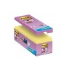 3M POSTIT Öntapadó jegyzettömb csomag, 127x76 mm, 16x90 lap, 3M POSTIT Super Sticky, sárga