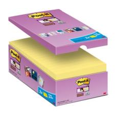 """3M POSTIT Öntapadó jegyzettömb csomag, 76x76 mm, 16x90 lap, 3M POSTIT """"Super Sticky"""", sárga jegyzettömb"""