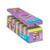 """3M POSTIT Öntapadó jegyzettömb csomag, 76x76 mm, 24x90 lap, 3M POSTIT """"Super Sticky"""", vegyes"""