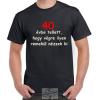 40 évbe tellett póló