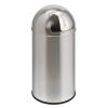 4583 Hulladékgyűjtő fém betéttel - króm 40 l