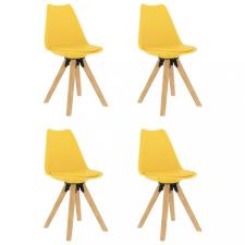 4 db sárga étkezőszék bútor