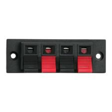 4-es hangszóró aljzat,beépíthető,csiptetős audió/videó kellék, kábel és adapter