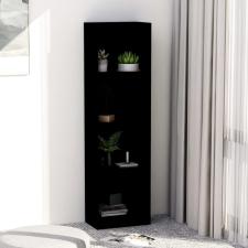 4-szintes fekete forgácslap könyvszekrény 40 x 24 x 142 cm bútor