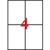 APLI 2 pályás etikett, 105 x 148 mm,  2000 etikett/csomag