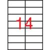 APLI 2 pályás etikett, 105 x 42,4 mm, 1400 etikett/csomag