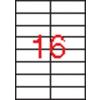 APLI 2 pályás etikett, 105  x 37 mm, 4000 etikett/csomag