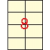 APLI krémszínű etikett, 97 x 67,7 mm, 160 etikett/csomag