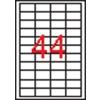 APLI 4 pályás etikett, 48,5 x 25,4 mm, 1100 etikett/csomag