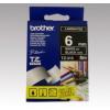 Brother 6 mm-es szalag fekete alap/fehér betű