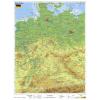 Stiefel Eurocart Kft. Németország, domborzati   vaktérkép DUO (német nyelvű)