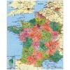 Stiefel Eurocart Kft. Franciaország megyéi és postai irányítószámos térképe fóliás-fémléces
