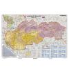Stiefel Eurocart Kft. Szlovákia irányítószámos térképe, tűzhető, keretes