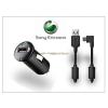 Sony Ericsson Aspen/Vivaz/X2/X10 USB szivargyújtós töltő adapter + microUSB adatkábel - AN400+EC450 (csomagolás nélküli)