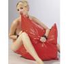 Fényes párnahuzat - piros bőr, lakk, latex eszköz