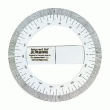 Szögmérő 360 fokos papírból iskolai kiegészítő