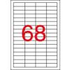 APLI 4 pályás etikett, 48,5 x 16,9 mm, eltávolítható,  6800 etikett/csomag