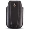 Ferrari Scudeira bőrtok, fekete, iPhone méret