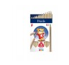 ICO Creative Kids színes ceruza vastag, háromszögletű, vastag, natúr, 12 szín színes ceruza