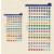 FILOFAX öntapadó színes szervezőcímkék, kicsi