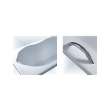 Univerzális rozsdamentes kapaszkodó (kád felső vízszintes peremére vagy falra) kád, zuhanykabin