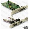 DELOCK PCI Bővítőkártya 2x Soros (RS-232) port + 1x Párhuzamos port